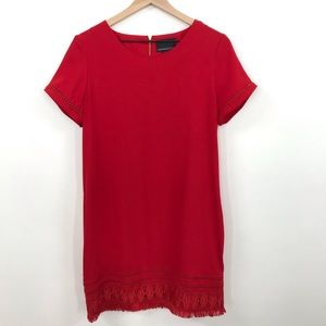 Cynthia Rowley | Red Dress with Crochet Details